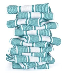 "12 Premium Cotton Kitchen Dish Towels 18x28"""